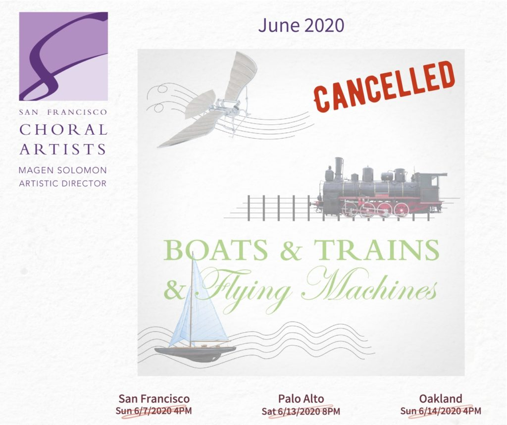 June 2020 concert cancelled - COVID19